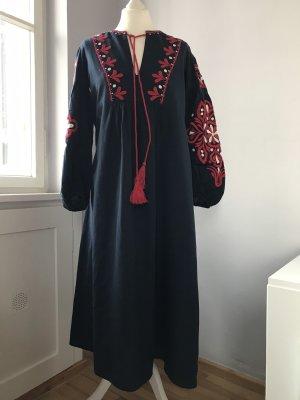 Zara Hippie Dress multicolored cotton
