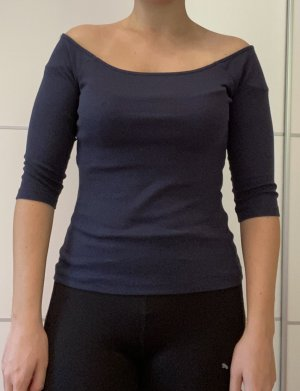 Vero Moda Top épaules dénudées bleu foncé