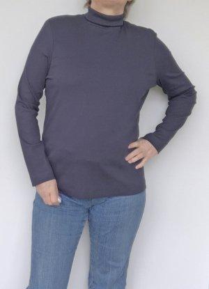 Luisa Cerano Turtleneck Shirt dark blue cotton