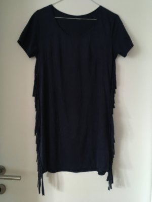 Fringed Dress dark blue