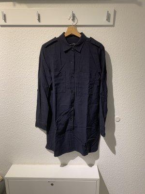 Dunkelblaues Hemdkleid von Zara | Größe S