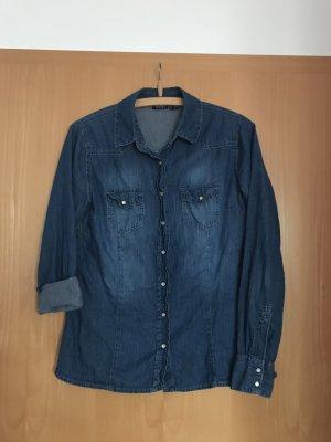 Esmara Camicia denim blu acciaio Cotone