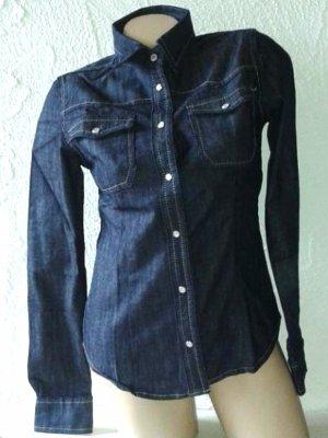 Heine Blouse en jean bleu-bleu foncé coton