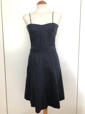 Dunkelblaues Kleid abnehmbare Träger Drykorn