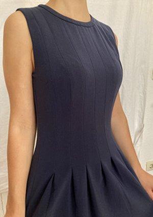 H&M Sukienka z gorsetem stalowy niebieski-ciemnoniebieski Poliester