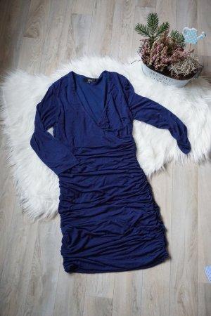 Ann Christine Avondjurk blauw-donkerblauw