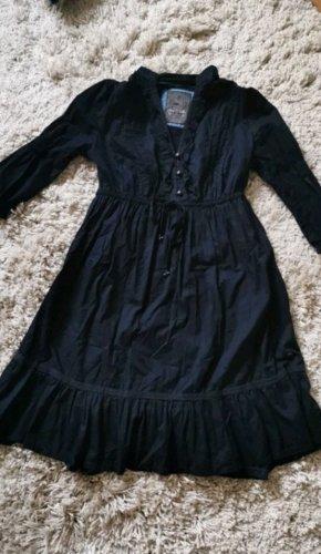 Dunkelblaues Kleid im vintage Look