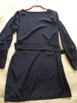 Asos Petite Cut Out Dress dark blue