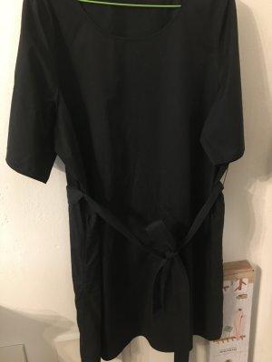 COS Sukienka z krótkim rękawem ciemnoniebieski Bawełna