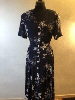 Carla Fasini Midi-jurk donkerblauw-wit