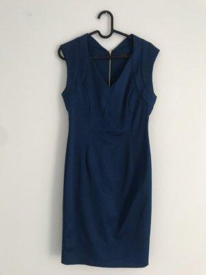 Dunkelblaues Kleid // Zara