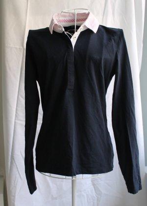 Dunkelblaues langärmeliges Shirt von Gant mit Kragen