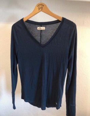 Hollister Basic Shirt dark blue