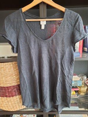 dunkelblaues Leinenshirt, XS