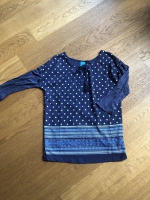 Dunkelblaues Muster Shirt Größe 38