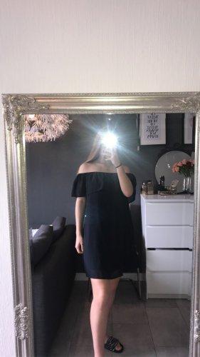 dunkelblaues Off-shoulder Kleid von Only