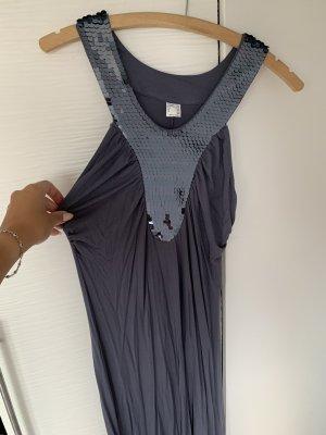 Robe à paillettes bleu foncé-bleu acier