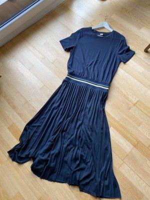 Hugo Boss Sukienka z krótkim rękawem ciemnoniebieski Bawełna