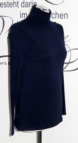Esprit Turtleneck Shirt dark blue cotton