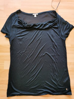 Esprit Koszulka z dekoltem woda ciemnoniebieski