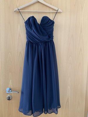 Asos Robe de bal bleu acier polyester
