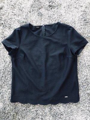 Dunkelblaues Shirt in Netzoptik von Cinque