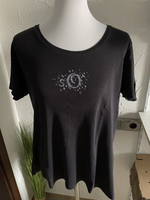 s.Oliver Print Shirt blue-dark blue cotton