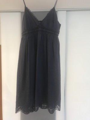 Dunkelblaues Sommerkleid aus Baumwolle von Usha in Gr. M