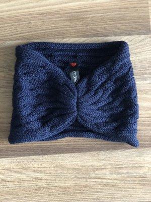 Cache-oreilles bleu foncé laine