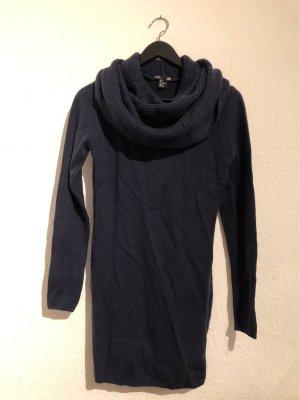 H&M Vestido tejido azul oscuro