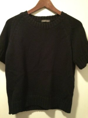 Dunkelblaues Strickshirt