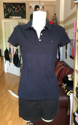 Dunkelblaues Tommy Hilfiger Polo Shirt S