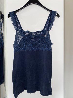 pompadour Basic Top dark blue
