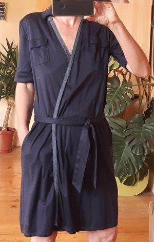 G-Star Kopertowa sukienka stalowy niebieski-ciemnoniebieski Bawełna