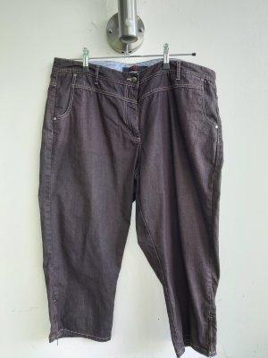 3/4-jeans donkerbruin