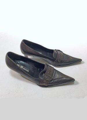 dunkelbraune bronzefarbene High Heels, Pumps, Größe 5 1/2