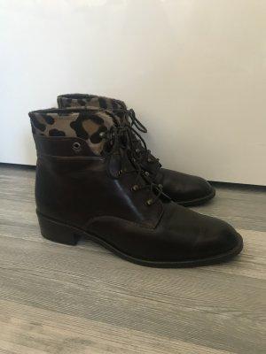 Dunkelbraune echtes Leder Stiefeletten Schuhe von Walter Käfer 6,5 40