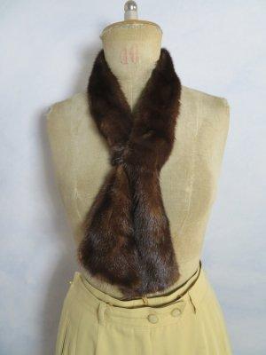 Vintage Corbata marrón oscuro Pelaje