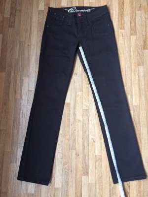 edc by Esprit Jeansy z prostymi nogawkami ciemnobrązowy Bawełna