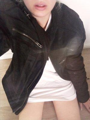 Vintage Oversized Jacket multicolored leather