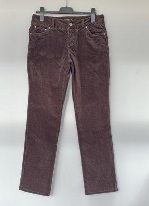 Encuentro Five-Pocket Trousers dark brown mixture fibre