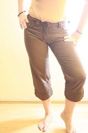 Pantalon capri brun