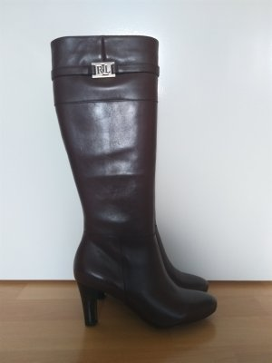 dunkelbraune Stiefel Ralph Lauren