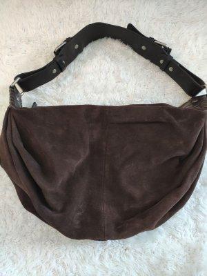 Dunkelbraune Vintage Marc O´Polo Tasche aus Rauleder