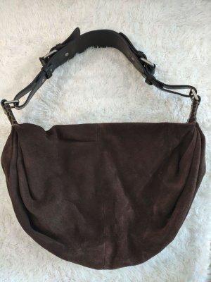 Dunkelbraune Vintage Marc O´Polo Tasche aus Wildleder