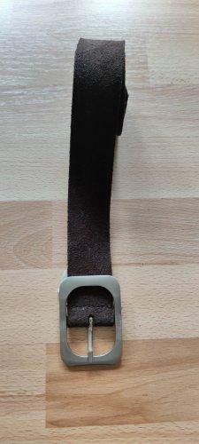 Dunkelbrauner Esprit Wild-Ledergürtel - 90cm Länge