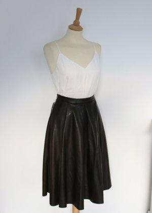 Jaune Rouge Leren rok donkerbruin-zwart bruin