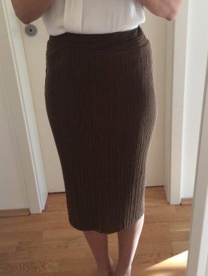 Dunkelbrauner Pencil Skirt von Zara