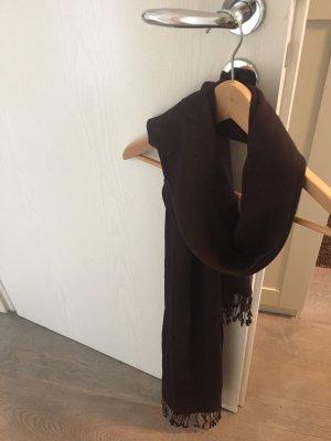Dunkelbrauner Schal/ Tuch aus Cashmere und Seide