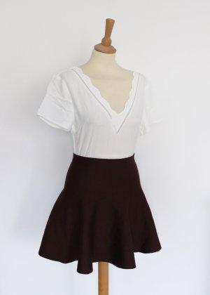 Falda de patinador marrón-negro-marrón oscuro